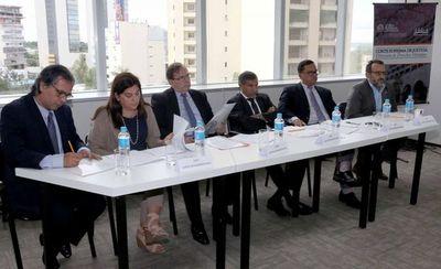 Hacen simulación de alegatos orales, asistió el ministro Ramírez Candia
