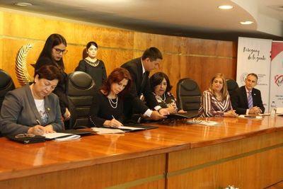 Niñez y Adolescencia: CSJ firma compromiso interinstitucional