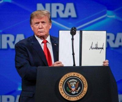 Trump retirará el apoyo de EE.UU. al tratado de ONU sobre comercio de armas