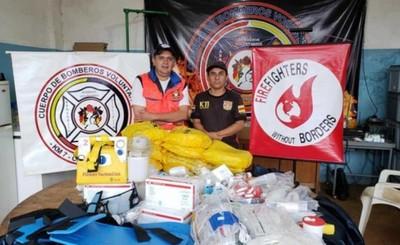 Bomberos de Mallorquín reciben donaciones de otra compañía esteña