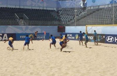 Los Pynandi pisan la arena del Mundial