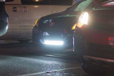 Patrulla Caminera multará por uso de reflectores y luces led