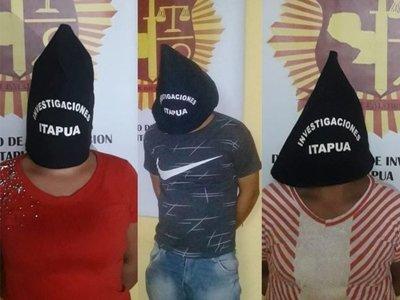 Desbaratan banda que perpetraba atracos en comercios de Itapúa