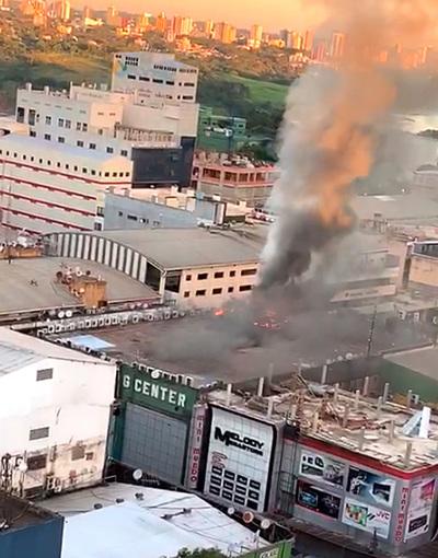 Shopping Hijazi Center se incendia por segunda vez en menos de cuatro meses
