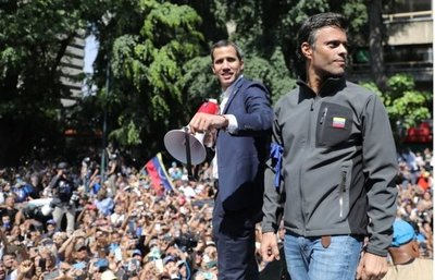 """Juan Guaidó: """"Hoy, 1 de mayo, volveremos a las calles porque Maduro no tiene el respaldo de las Fuerzas Armadas"""""""