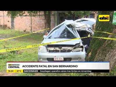 Accidente fatal en San Bernardino