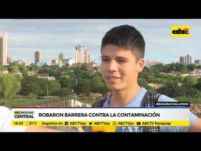 #basurachallenge: Robaron barrera contra la contaminación