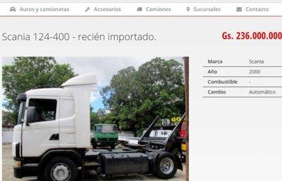 Camiones usados ingresan al país subvalorados para evadir impuestos