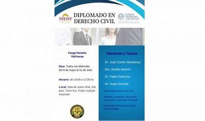 Inician Diplomado en Derecho Civil