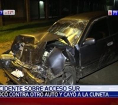 Violento accidente de tránsito deja dos heridos