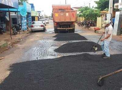 Suspenden reparación de calles «por falta de materia prima»