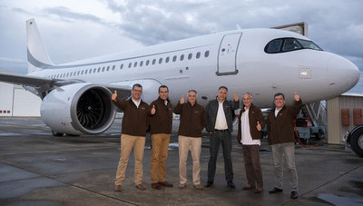 Jet corporativo de Airbus establece impresionante récord de duración de vuelo