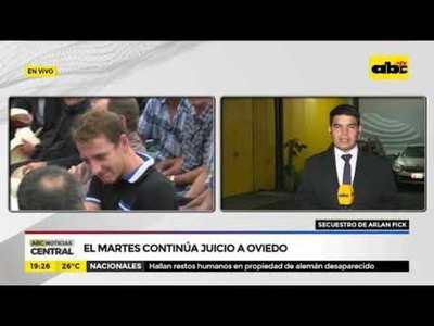 El martes continúa el juicio a Oviedo