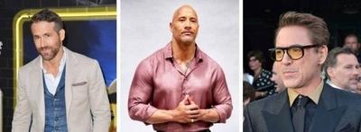 """HOY / Ryan Reynolds, """"La Roca"""" y Downey Jr.: Los actores mejores pagados del cine"""