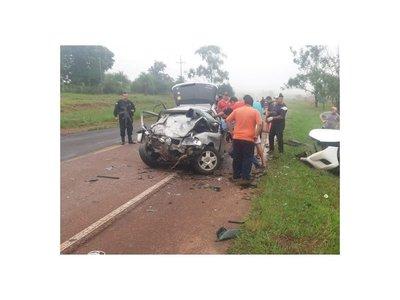Accidente rutero en Caapucú dejó dos muertos y cinco heridos