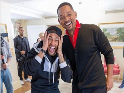 Así reaccionó Neymar al conocer a su ídolo Will Smith