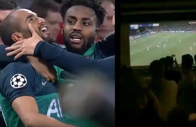 Video muestra a hinchas del Ajax contando los segundos para el final del partido pero llega el gol de Moura y lo cambia todo