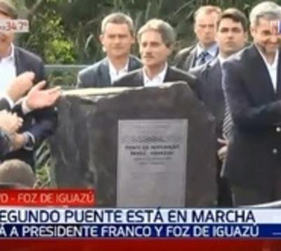 Abdo y Bolsonaro inician obras del segundo puente internacional