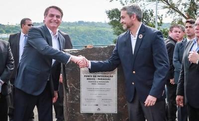 HOY / Abdo y Bolsonaro dan palada inicial a segundo puente, que  costará US$ 83,9 millones