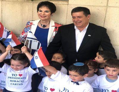 Ex presidente Horacio Cartes, con un nuevo reconocimiento en Israel