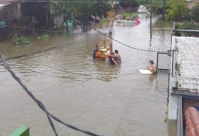 Alerta total por lluvia en zona del Ñeembucú