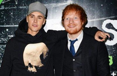 Bieber y Sheeran juntos