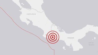 Reportan sismo de magnitud 6,1 en la frontera de Panamá y Costa Rica