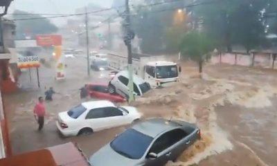 Reunión para proyectar construcción de desagüe pluvial en Asunción