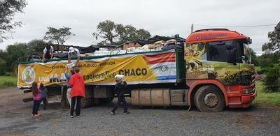 16.500 kg de víveres donados llegan desde el oriental para familias del Chaco