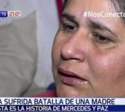 Una súper mamá: La lucha de Mercedes por su pequeña hija Paz
