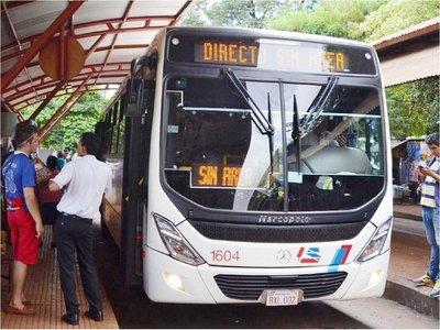 Los pasajes del transporte público suben desde hoy cien guaraníes