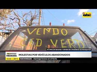 Molestias por vehículos abandonados