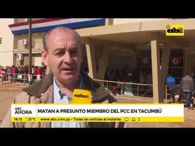 Matan a presunto miembro del PCC en Tacumbú