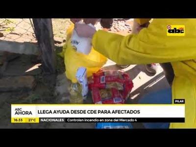 Llega ayuda desde CDE para afectados en Pilar