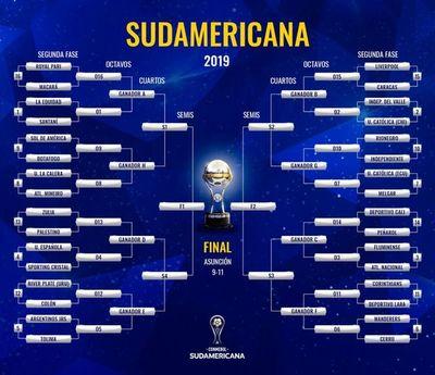 La programación de la Sudamericana