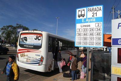 Dinatran realizará control de buses de larga distancia
