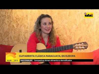 Guitarrista clásica nos representa en Europa