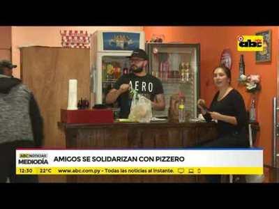 Amigos se solidarizan con pizzero