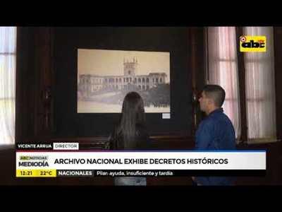 Archivo Nacional exhibe decretos históricos