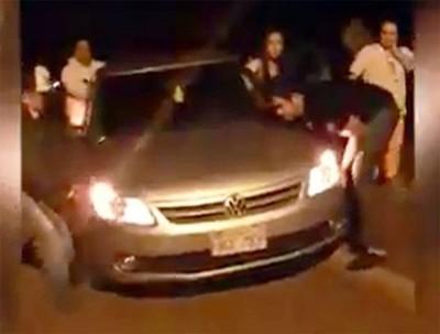 Baches dañan vehículos en tramo Paraguarí – Villarrica
