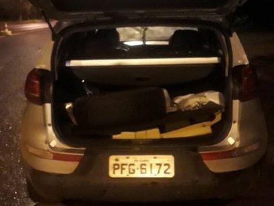 Brasileña cae con supuesta marihuana en Canindeyú