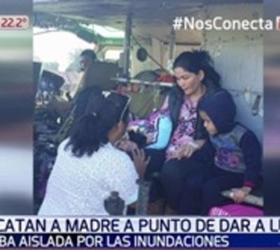 Rescatan a mujer a punto de dar a luz en el Chaco