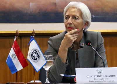 Lagarde espera una reducción de las tensiones globales en los próximos meses