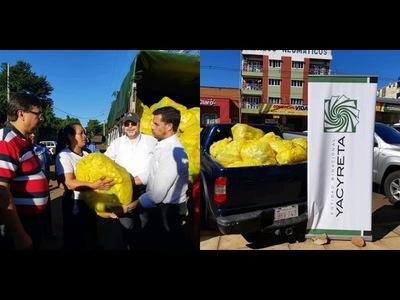 EBY entrega aportes a barrios de Encarnación.