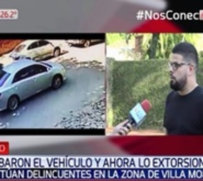 Le robaron el vehículo y ahora lo extorsionan