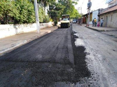 Inician recapado de callesen San Lorenzo