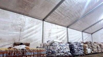 Entregan más mil toneladas de alimentos a damnificados
