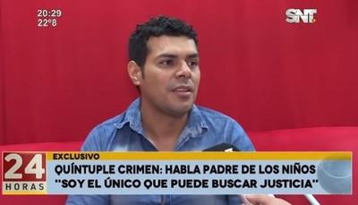 Marabel tendrá su merecido, dice padre de niños asesinados