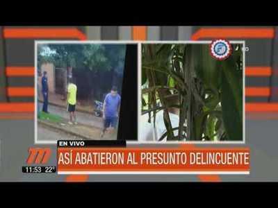 Así abatieron a presunto delincuente en Areguá