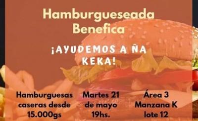 "Hamburgueseada benéfica para ""Ña Keka"""